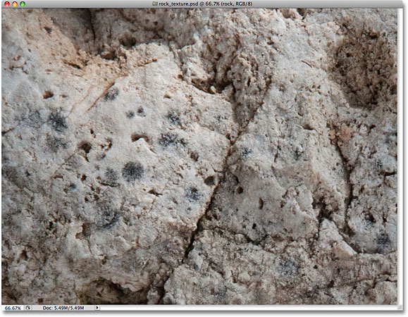 A rock texture photo. Image &copy; 2009 Photoshop Essentials.com.