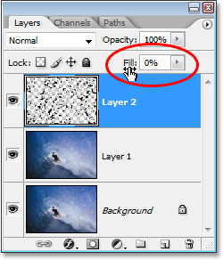 Lowering the Fill option down to 0%.