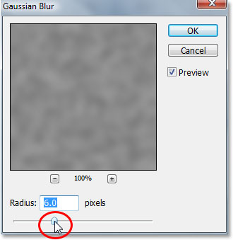 Photoshop's Gaussian Blur filter.