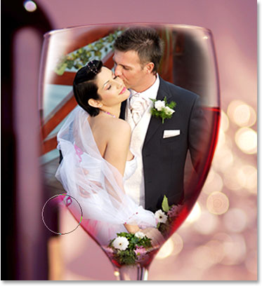 Wedding couple in wine glass photoshop tutorial for Photoshop wedding photos