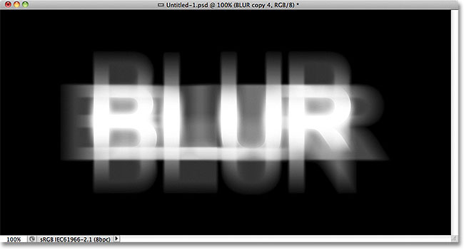 Photoshop blurred text. Image © 2011 Photoshop Essentials.com.