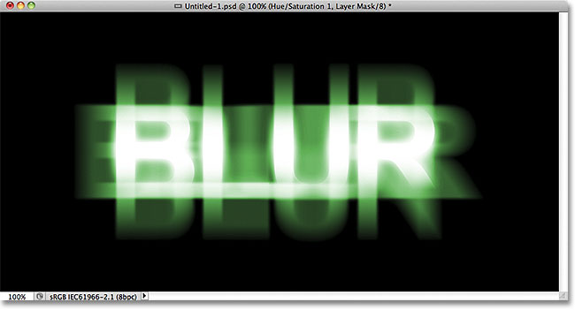 Photoshop ghostly blur text effect. Image © 2011 Photoshop Essentials.com.