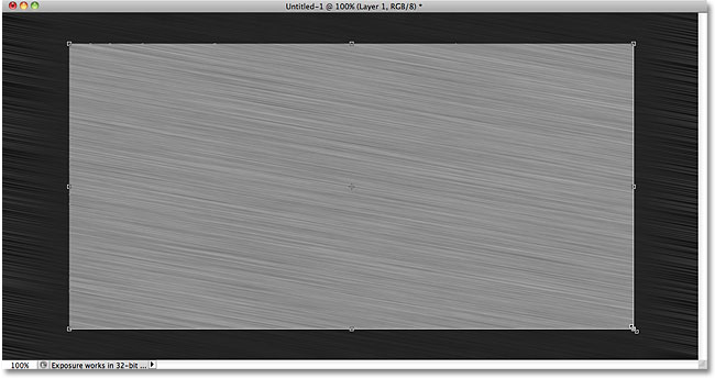 Dragging a crop selection with the Crop Tool. Image © 2010 Photoshop Essentials.com.