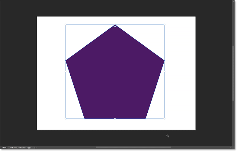 Releasing my mouse button to complete the polygon shape.