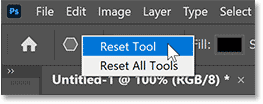 Resetting the Polygon Tool's options