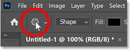 Right-click (Win) / Control-click (Mac) on the tool icon in Photoshop's Options Bar