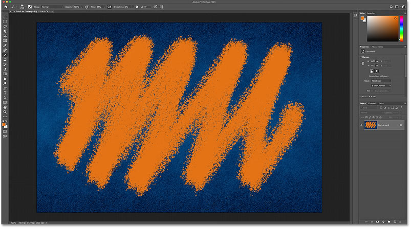 Painting the same brush stroke with Photoshop's Brush Tool