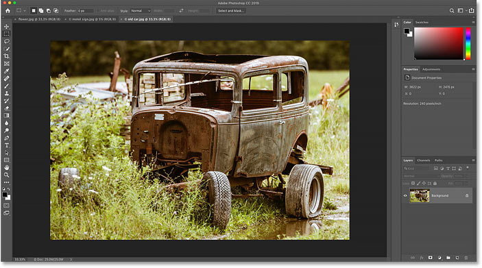 The new image opens in Photoshop. Photo credit: Steve Patterson