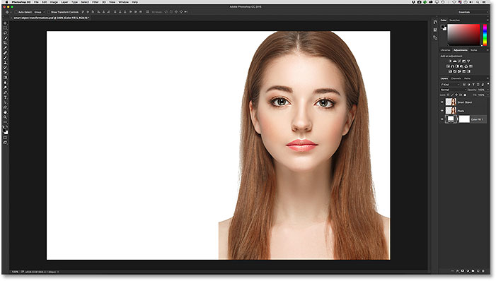 how to change size of object in photoshop