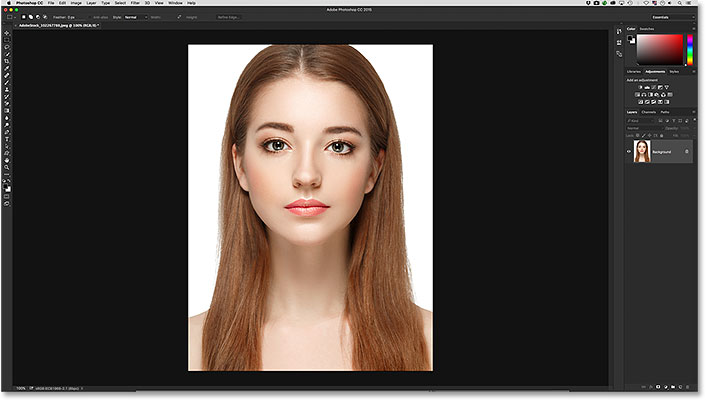 An image open in Photoshop CC.