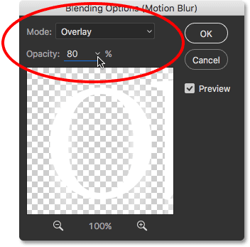 The Smart Filter Blending Options dialog box.