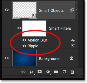 The order of the Smart Filters has been changed.