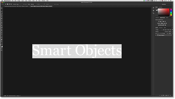 The Smsrt Object type opens in its own document.