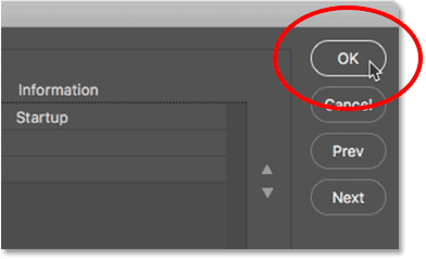 Setting the scratch disk options in Photoshop.