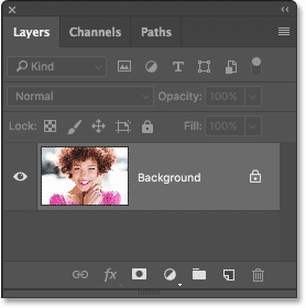 The Layers panel showing the default gray highlight color.