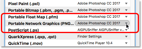 PNG files are now set to open correctly.