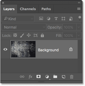 The texture photo sits on the Background layer in the Layers panel.