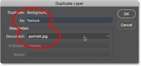 Elegir el comando Duplicar capa del menú Capas de Photoshop.