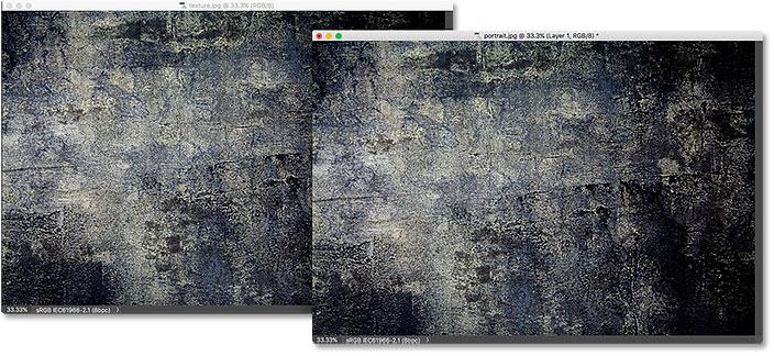 La imagen de la textura se ha movido a la otra ventana flotante.