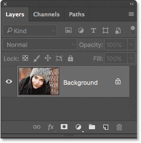 El panel Capas en Photoshop.