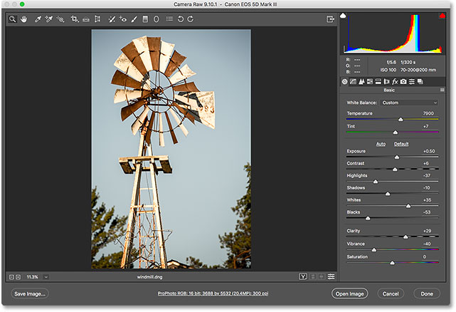 how to open cr files in photoshop