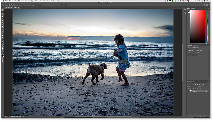 The JPEG image opens in Photoshop. Image copyright Steve Patterson.