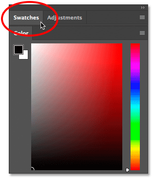 Collapsing a panel group in Photoshop CC.