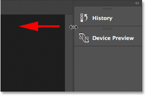 Resizing the secondary panel column to display the panel names.