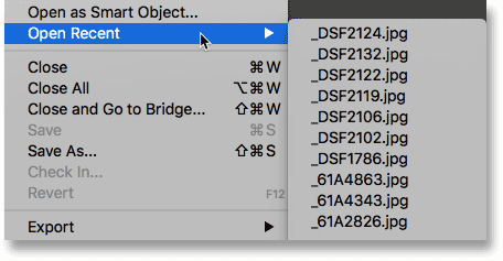 The Hidden Recent Files Panel In Photoshop CC