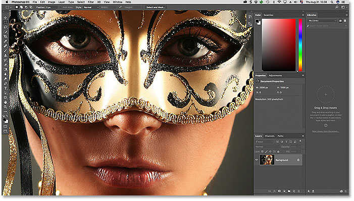 The Full Screen Mode With Menu Bar Screen Mode in Photoshop.