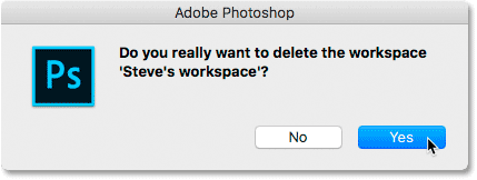 Confirm that you want to delete the workspace.