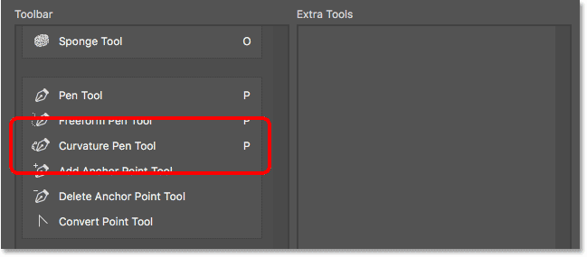 The Curvature Pen Tool has been added to the Toolbar