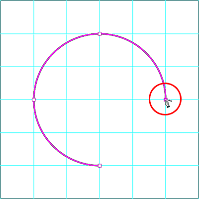 Adding a fourth point with the Curvature Pen Tool