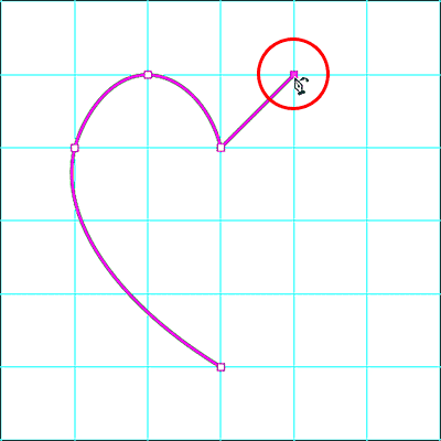 Adding the fifth anchor point with the Curvature Pen Tool