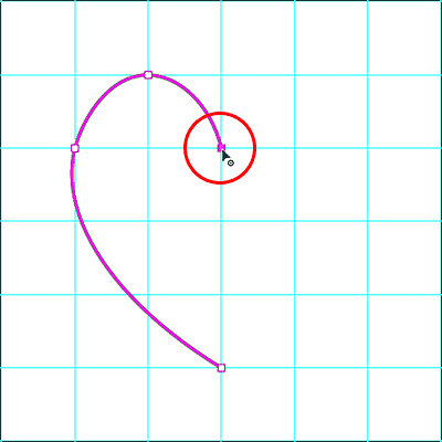 Adding the fourth point as a corner point by double-clicking with the Curvature Pen Tool