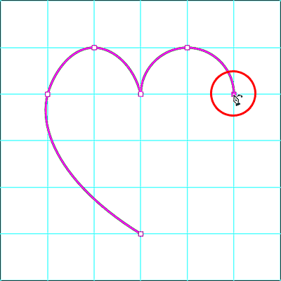 Adding the sixth anchor point with the Curvature Pen Tool