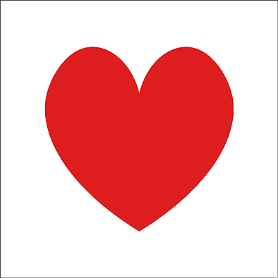 The heart shape drawn with the Curvature Pen Tool