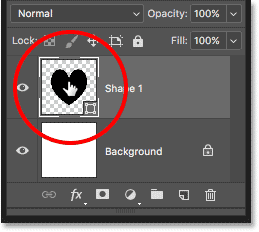 Double-clicking on the Shape layer thumbnail in the Layers panel