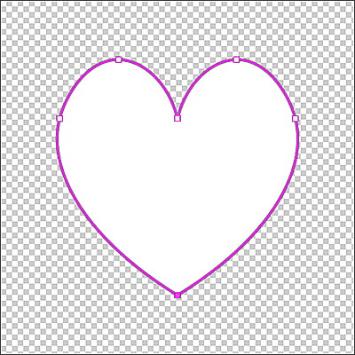 The path drawn with the Curvature Pen Tool is now a vector mask