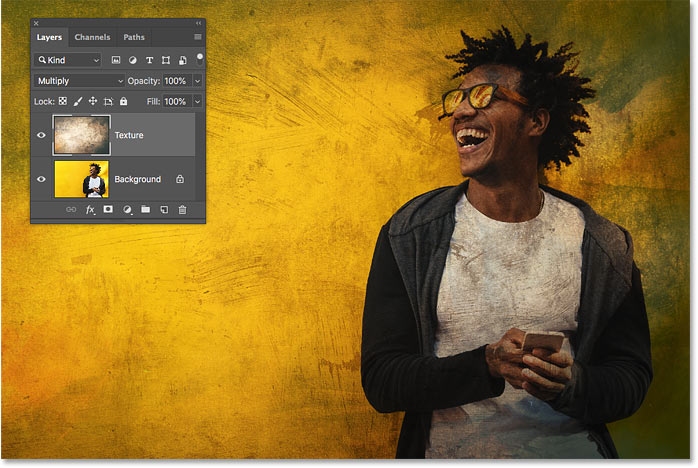 Selecting a layer blend mode after previewing them in Photoshop CC 2019