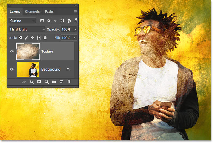 How to cycle through layer blend modes from your keyboard with Photoshop CC 2019