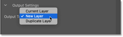The Output Settings for the Content-Aware Fill taskspace in Photoshop CC 2019