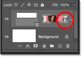 The Frame layer in the Layers panel showing the content of the frame added as a smart object