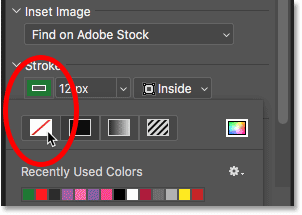 How to remove the stroke around the frame in Photoshop CC 2019