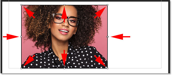 How to resize the frame with the Frame Tool in Photoshop CC 2019