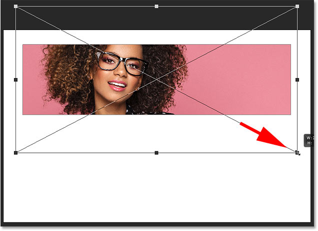 How to reside the image in the frame in Photoshop CC 2019