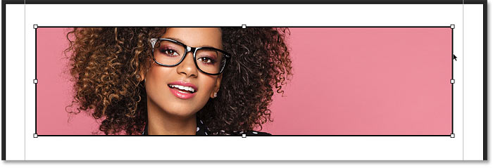 Selecting the frame with the Frame Tool in Photoshop CC 2019