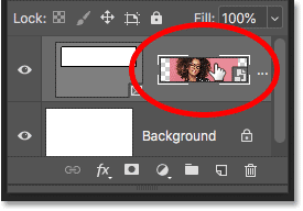Selecting the image by clicking the right thumbnail on the Frame layer