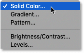 Adding a Solid Color fil layer in Photoshop