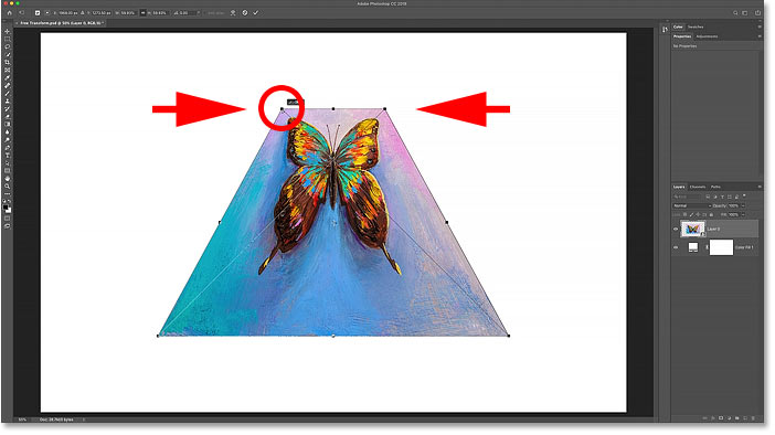 How to perform a Perspective Distortion with Photoshop's Free Transform command